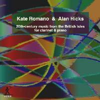 Picture of CD of contemporary music for clarinet and piano, performed by Kate Romano (clarinet) and Keith Hicks (piano).