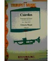 Picture of Sheet music  for trumpet (Bb/C) and piano. Sheet music for trumpet in Bb or C (simplified) and piano by Vittorio Monti