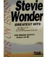 Picture of Sheet music  for 2 trumpets; french horn; trombone; trombone or tuba; percussion (optional). Sheet music for brass quintet with optional percussion by Stevie Wonder