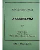 Picture of Sheet music for 3 flutes, flute or oboe and piano by Arcangelo Corelli
