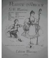 Picture of Sheet music for flute or oboe and piano by Padre Martini