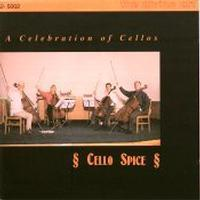 Picture of CD of music for cello ensemble, performed by Cello Spice.