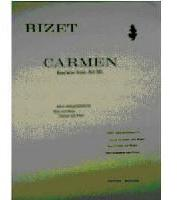 Picture of Sheet music for flute, flute or oboe and piano or harp by Georges Bizet