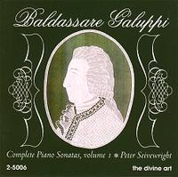 Picture of CD of piano music by Baldassaro Galuppi, performed by Peter Seivewright.