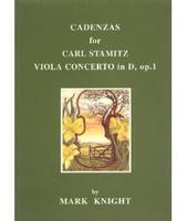 Picture of Sheet music for viola. Cadenzas for Stamitz Viola Concerto