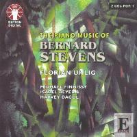 Picture of Double CD of music for piano solo and two piano by Bernard Stevens, performed by Florian Uhlig, Michael Finnissy, Isabel Beyer and Harvey Dagul