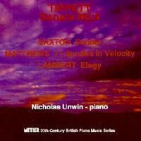 Picture of CD of contemporary piano music, performed by Nicholas Unwin.