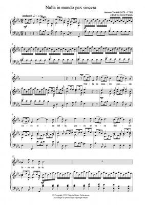 Picture of Sheet music  by Antonio Vivaldi. Sheet music for soprano or tenor with piano or organ by Vivaldi
