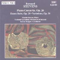 Picture of CD of music for piano and orchestra by Bernard Stevens, performed by Martin Roscoe (piano) and the National Symphony Orchestra of Ireland, conducted by Adrian Leaper.