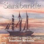 Picture of CD of transcriptions for guitar of some of Bach's best known works, performed by Jonathan Richards