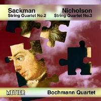 Picture of CD of quartets by Nicholas Sackman and George Nicholson, performed by the Bochmann Quartet