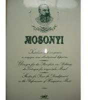 Picture of Sheet music for piano solo by Mihály Mosonyi