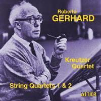Picture of CD of Roberto Gerhard's String Quartets Nos. 1 and 2, performed by the Kreutzer Quartet.