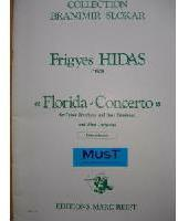 Picture of Sheet music for tenor trombone, bass trombone and piano by Frigyes Hidas