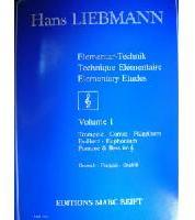 Picture of Tutor for french horn, trumpet, cornet, tenor trombone or euphonium in English, French and German by Hans Liebmann
