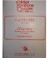 Picture of Sheet music for 4 tenor trombones by Paul Peuerl