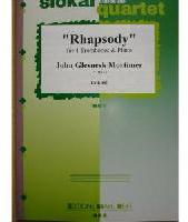 Picture of Sheet music for 4 tenor trombones and piano by John Mortimer