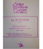Picture of Sheet music for 4 tenor trombones and piano by Jan Koetsier