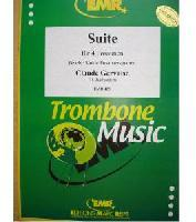 Picture of Sheet music for 4 tenor trombones by Claude Gervaise