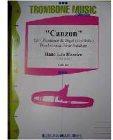 Picture of Sheet music for 4 tenor trombones and piano, harpsichord or organ by Hans Hassler