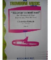 Picture of Sheet music for 4 tenor trombones and piano or organ by Christian Erbach