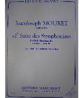 Picture of Sheet music  for 2 piccolo trumpets (C), trumpet (C), trumpet, french horn, 3 trombones, bass trombone and tuba. Sheet music for brass tentet by Jean-Joseph Mouret