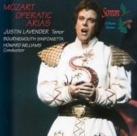 Picture of Justin Lavender Tenor, Bournemouth Sinfonietta, Howard Williams Conductor. Justin Lavender sings popular arias from Die Zauberflöte, Don Giovanni, Idomeneo, Cosí fan tutte and Die Entführung.
