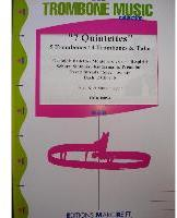 Picture of Sheet music  by Album of composers. Sheet music for 4 tenor trombones and tenor trombone or tuba