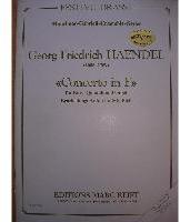 Picture of Sheet music  for 2 trumpets (Bb/C); french horn; trombone; tuba; piano or organ. Sheet music for brass quintet and piano or organ by George Frideric Handel