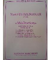 Picture of Sheet music  for 2 trumpets (Bb/C) or cornets; french horn (Eb/F), trombone (bc/tc) or euphonium; trombone (bc/tc); tuba (C/Eb). Sheet music for brass quintet by Kurt Sturzenegger