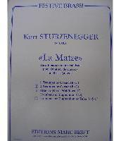 Picture of Sheet music  for 2 trumpets (Bb/C) or cornets; french horn (Eb/F), trombone (bc/tc) or euphonium; trombone (bc/tc); tuba (C/Eb). Sheet music for brass quartet by Kurt Sturzenegger