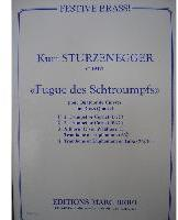Picture of Sheet music  for 2 trumpets (Bb/C) or cornets; french horn (Eb/F), trombone (bc/tc) or euphonium; trombone (bc/tc), euphonium or tuba (C/Eb). Sheet music for brass quartet by Kurt Sturzenegger