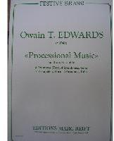 Picture of Sheet music  for 4 trumpets, french horn, 4 trombones and organ. Sheet music for brass nonet and organ by Orwain Edwards