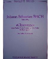 Picture of Sheet music  for trumpet (Bb/Eb); piccolo trumpet or trumpet; french horn; trombone or euphonium; tuba. Sheet music for brass quintet by Johann Sebastian Bach