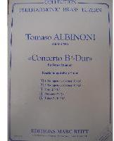 Picture of Sheet music  for 2 trumpets (bb/c), french horn (eb/f), trombone (bc/tc) and tuba (bb/c/eb). Sheet music for brass quintet by Tomaso Albinoni