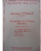 Picture of Sheet music  for 2 trumpets (Bb/C), french horn (Eb/F), trombone (bc/tc) and tuba (C/Eb). Sheet music for brass quintet by Antonio Vivaldi