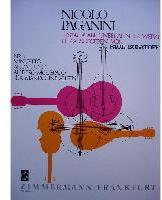 Picture of Sheet music for mandolin solo by Niccolò Paganini