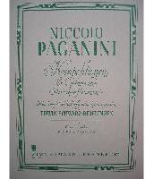 Picture of Sheet music for violin and piano or guitar by Niccolò Paganini