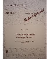 Picture of Sheet music  for guitar, 2 violins, viola and cello. Sheet music for guitar and string quartet by Luigi Boccherini