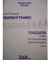 Picture of Sheet music for 8 tenor trombones and 3 percussionists by John Prescott