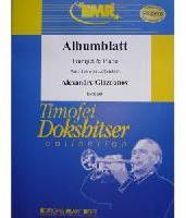 Picture of Sheet music for trumpet in Bb or C, cornet or flugelhorn and piano by Alexander Glazounov