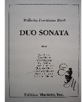 Picture of Sheet music for violin, flute or oboe and clarinet by Wilhelm Friedmann Bach