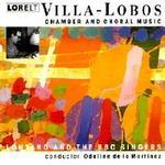 Picture of CD of music by Villa-Lobos, performed by Lontano and the BBC Singers, conducted by Odaline de la Martinez