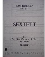 Picture of Sheet music for flute, oboe, clarinet, 2 french horns and bassoon by Carl Reinecke