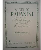 Picture of Sheet music for violin and guitar by Niccolò Paganini