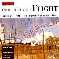Picture of CD of music for flute and piano, performed by Ingrid Culliford, flute and Dominic Saunders, piano