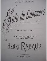 Picture of Sheet music for clarinet and piano by Henri Rabaud