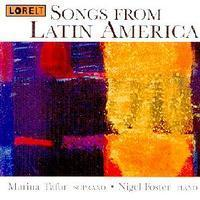 Picture of CD of songs performed by Marina Tafur, soprano, and Nigel Foster, piano