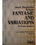 Picture of Sheet music  for 2 trumpets, french horn, trombone and tuba by Jean-Baptiste Arban. Sheet music for brass quintet by Dennis Armitage