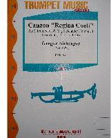 Picture of Sheet music for 2 trumpets and piano, harpsichord or organ by Gregor Aichinger